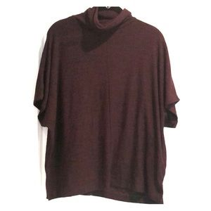 Banana republic burgundy turtleneck stretch top XS